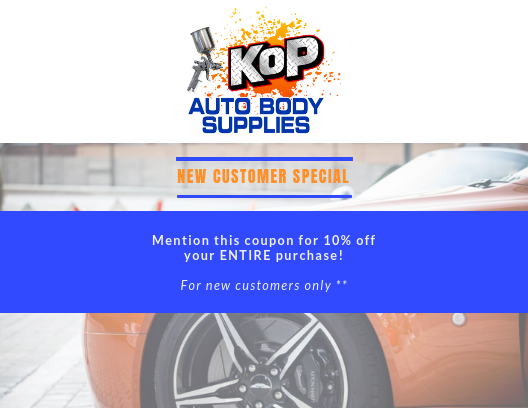 Custom Paint & Body Shop Supplies Discounts King of Prussia PA